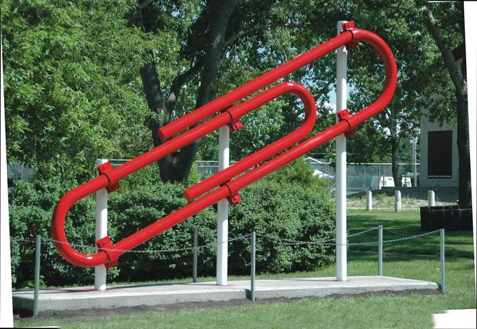 Red paper clip - one of Canada's biggest attractions