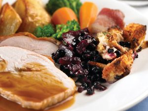 Roast Turkey with Wild Blueberry Stuffing