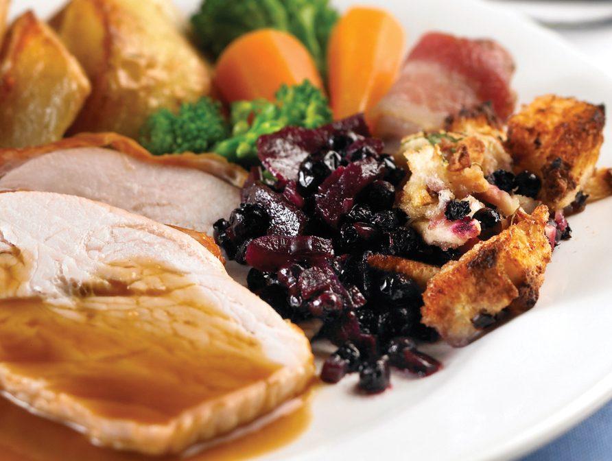 Roast Turkey with Wild Blueberry Stuffing