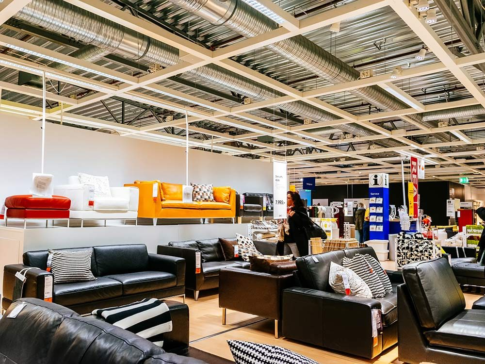 Interior of IKEA department store