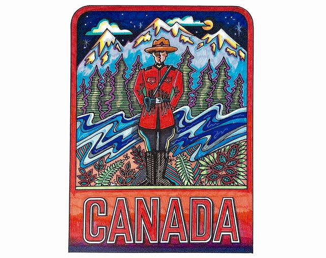 Canadiana Collection Colouring Book