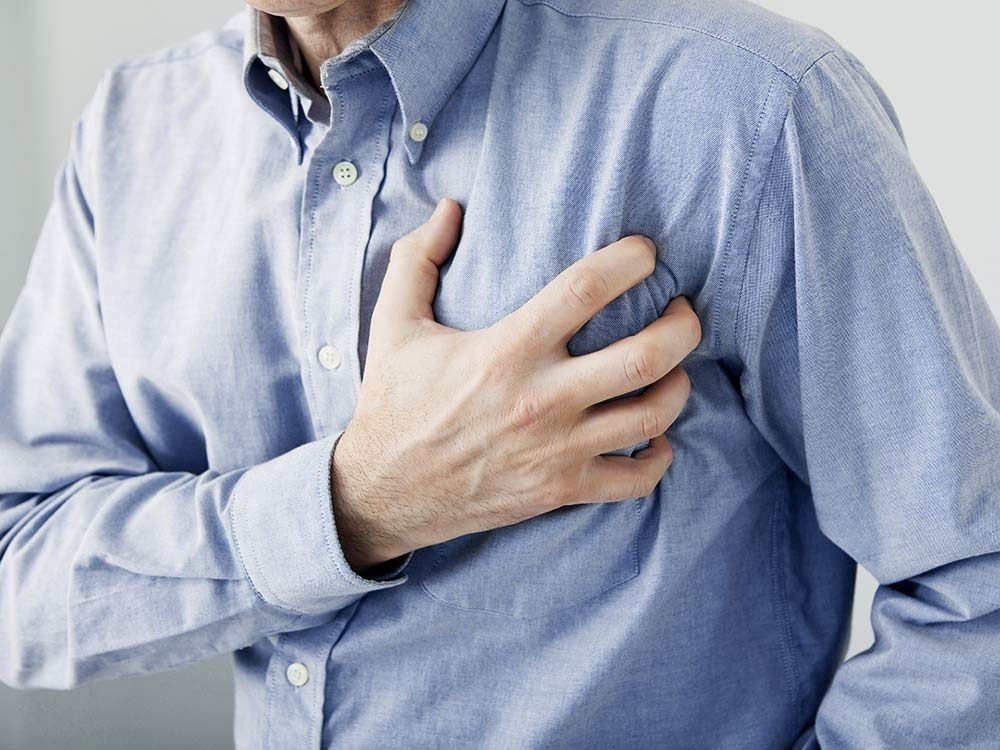 Man with heart problems