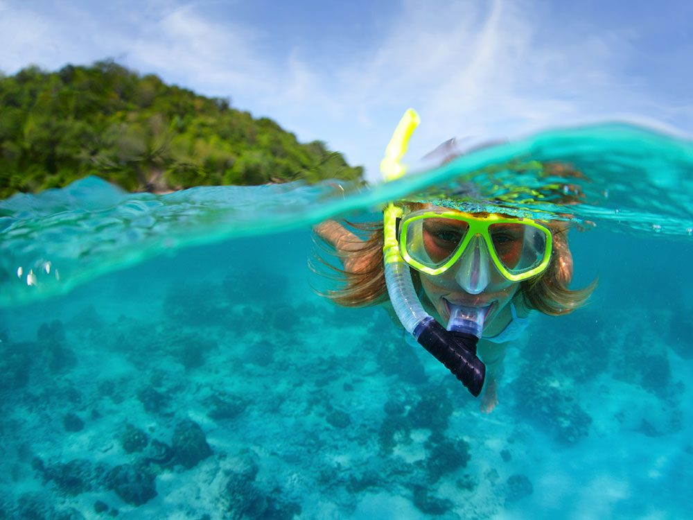 Snorkelling in Cancun
