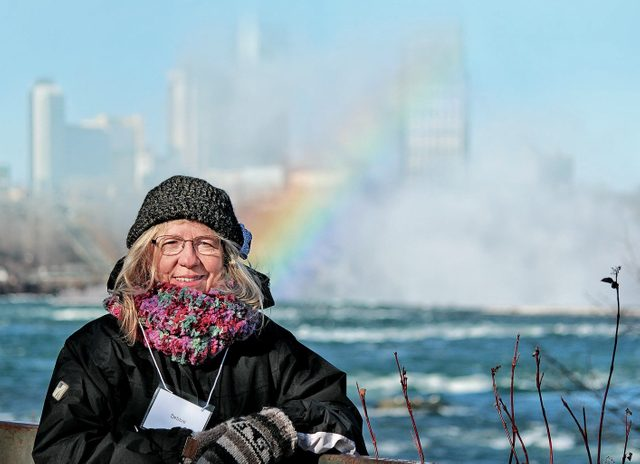 Debbie Wright at the Niagara Falls