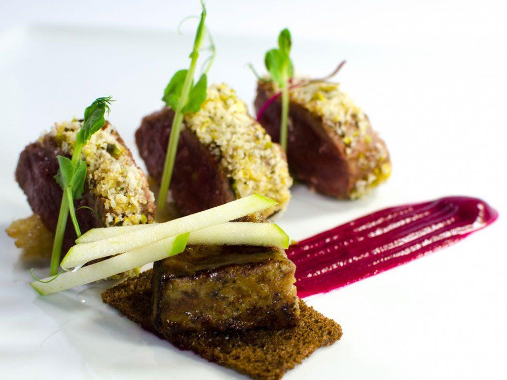 Food at Piaf Restaurant