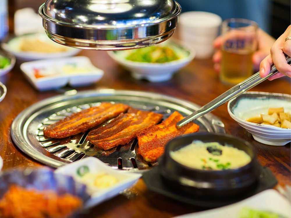 Food at Korean BBQ House