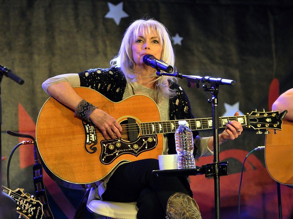 Emmylou Harris performing onstage