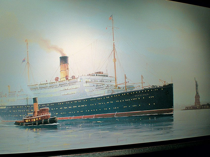 Painting of the ship Franconia