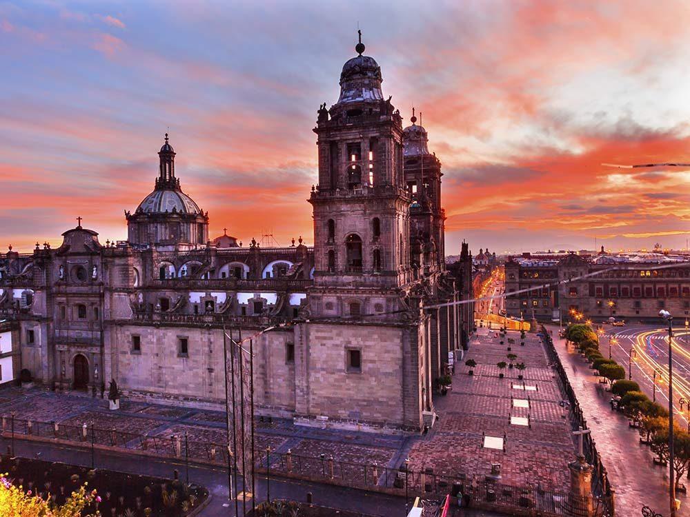 Zocalo ground square in Mexico City