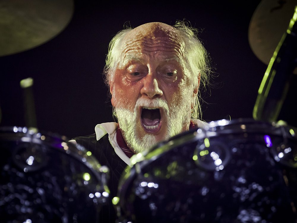 MIck Fleetwood playing the drums