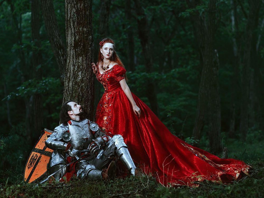Medieval romantic couple