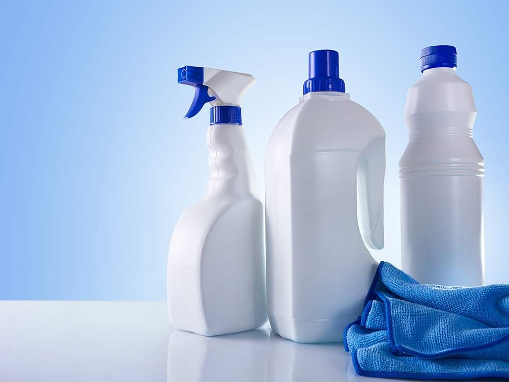 Use ammonia cleaning products for blood stain removal