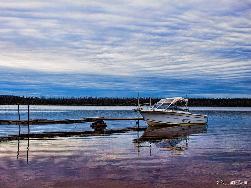 Boat at dock of the bay