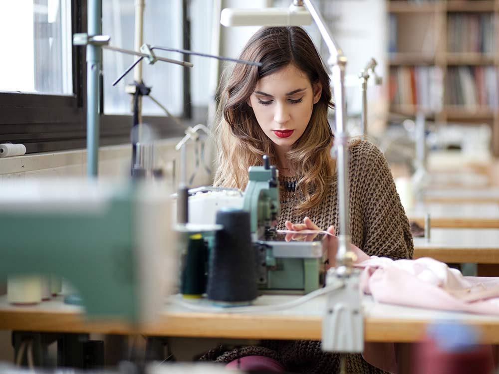 Female tailor in studio