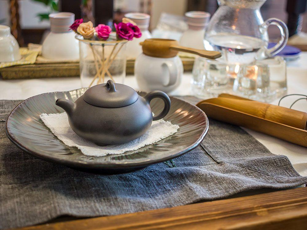Traditional South Korean tea service