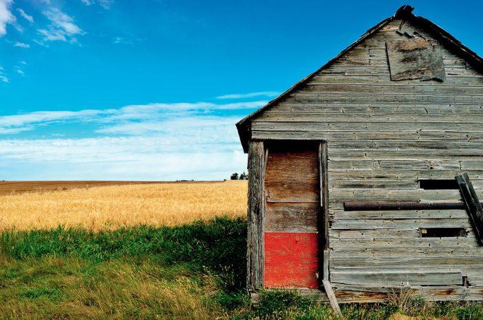 Unused storage building in Alberta