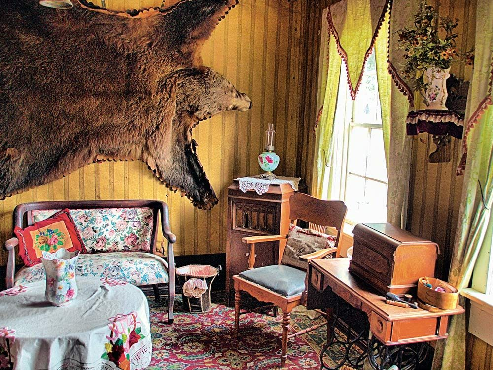 Interiors in Barkerville maintained an 1800s style
