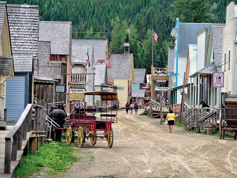 Main street of Barkerville in the summer