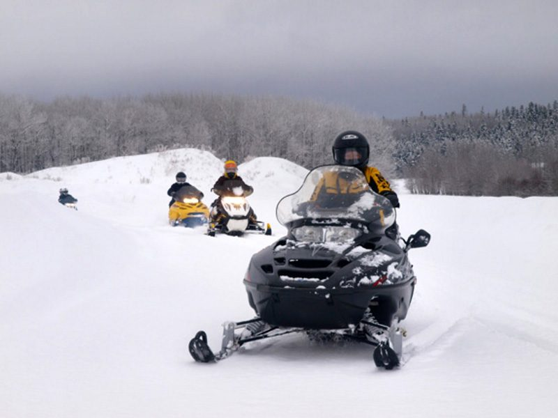 Snowmobiling at Elkorn Resort, Manitoba