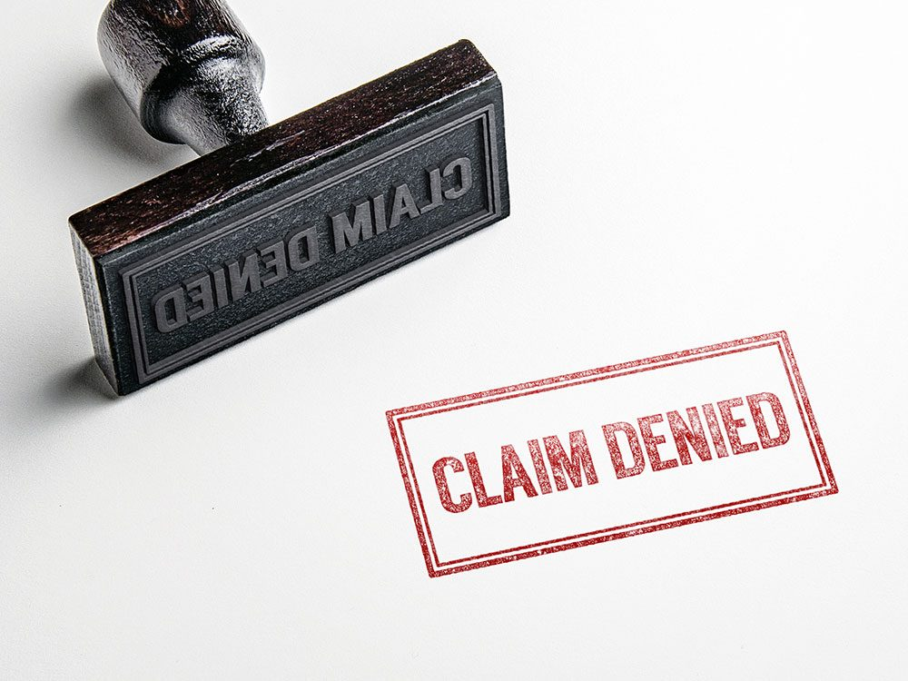 Car insurance claim denied