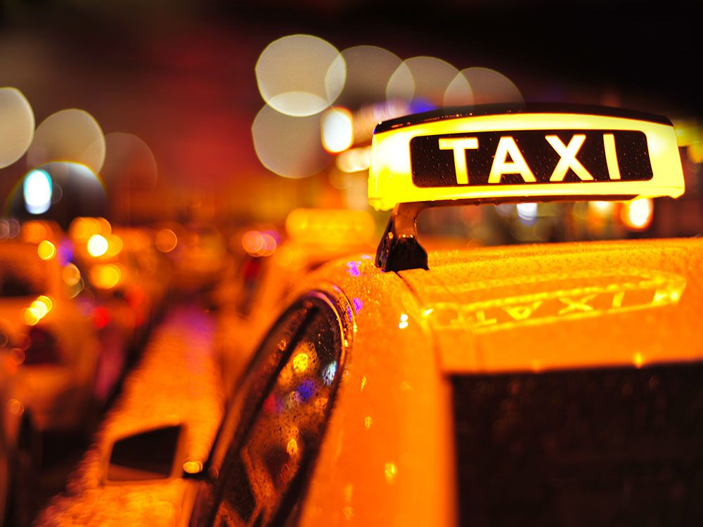 Consider taking taxis when travelling alone