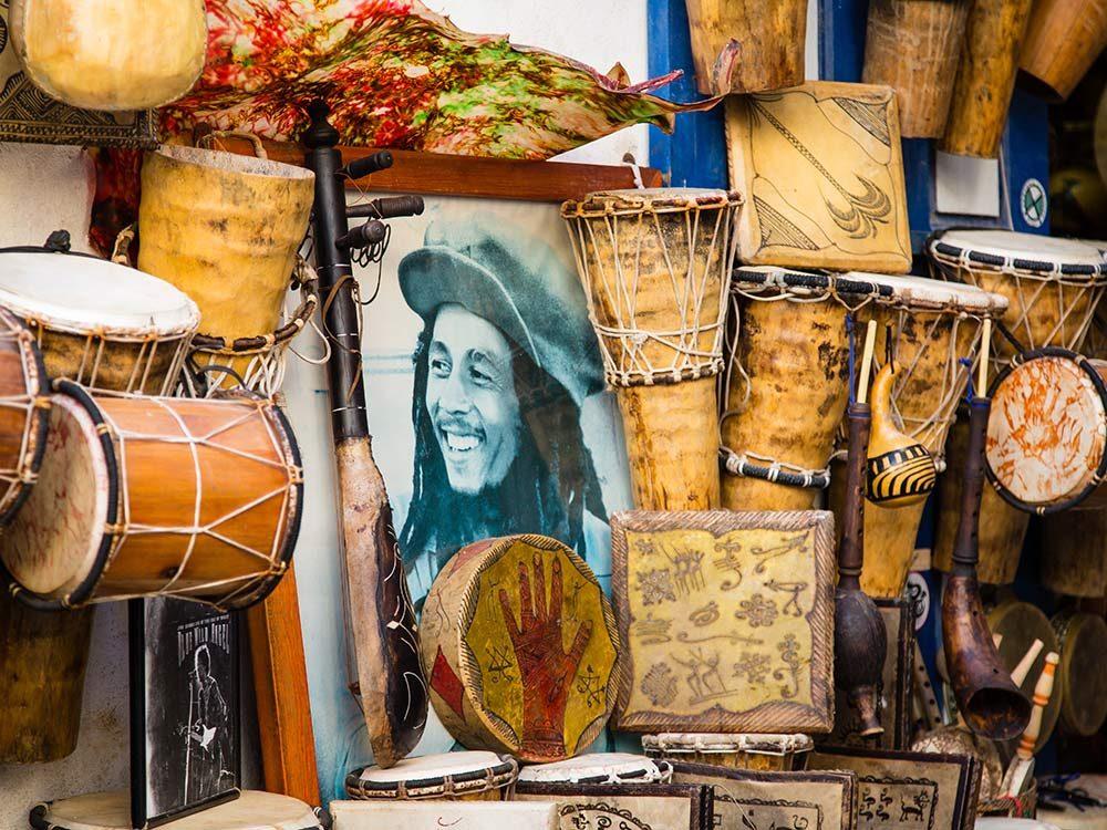 Bob Marley portrait in Morocco