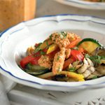 Grilled Vegetables with Romesco Sauce