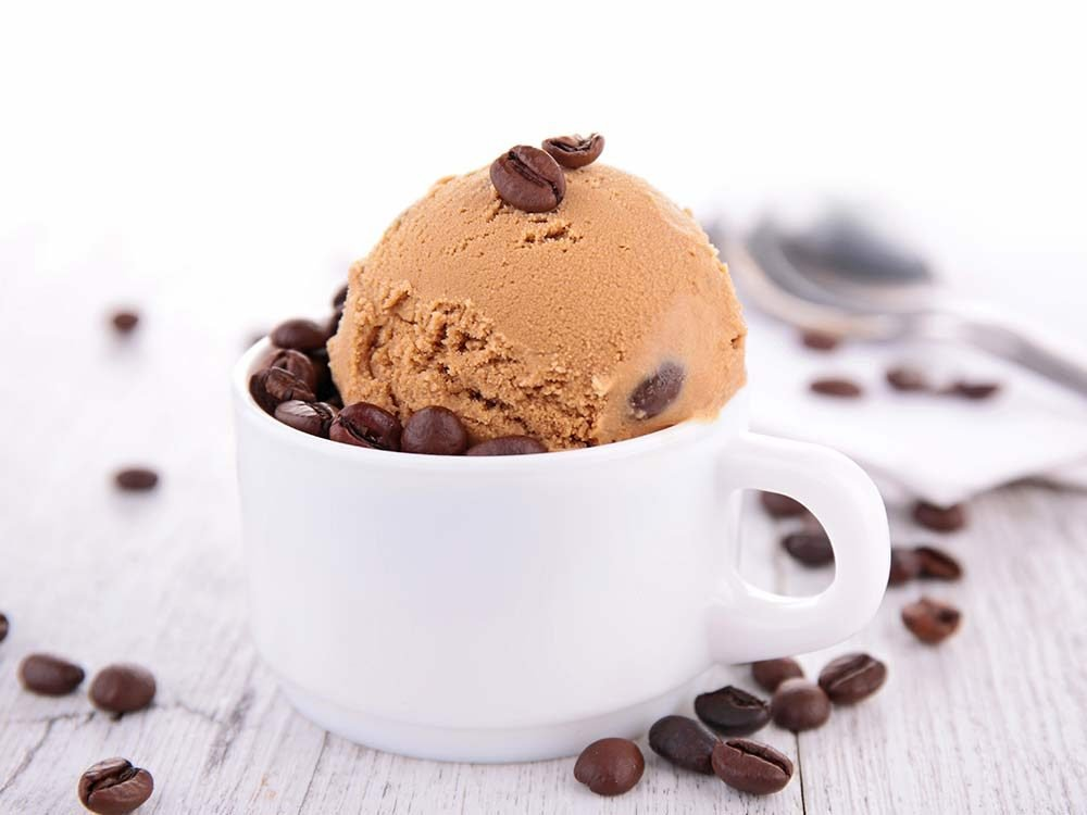 Coffee ice cream with chocolate chips
