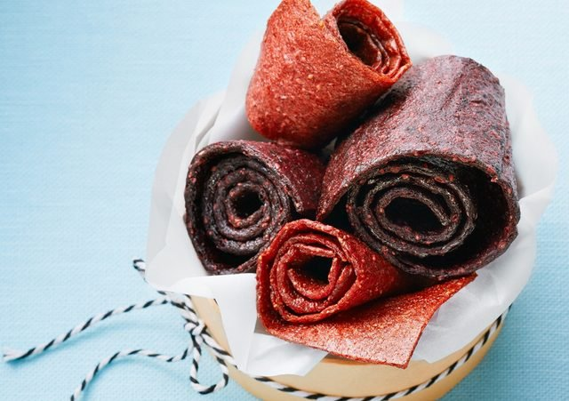 Homemade fruit rolls