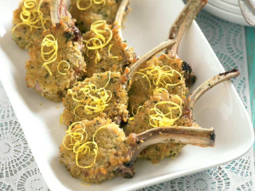 Lamb cutlets with herb and lemon crust