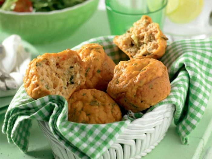 Lentil, ricotta and herb muffins