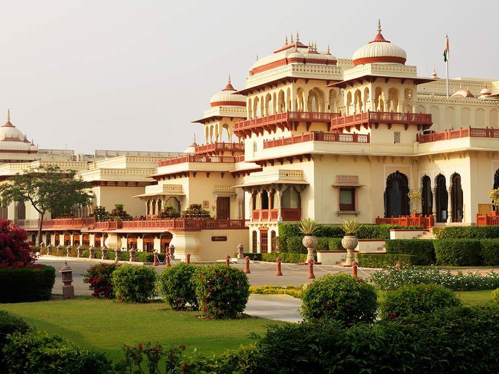 Rambagh Palace in Jaipur, India