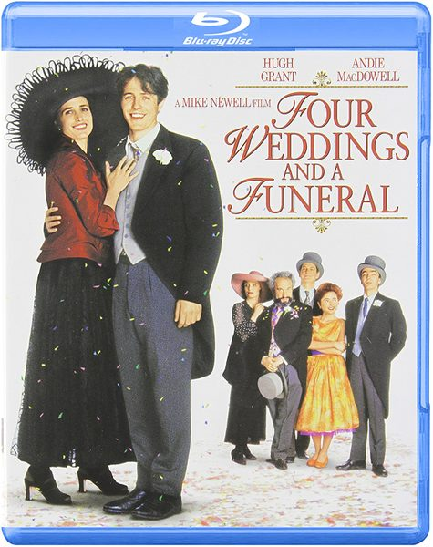 Blu ray cover of Four Weddings and a Funeral