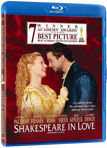 Blu ray cover of Shakespeare in Love