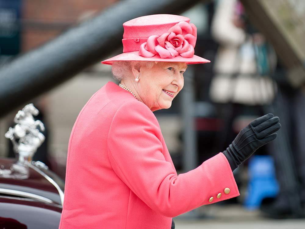 Queen Elizabeth greeting crowds