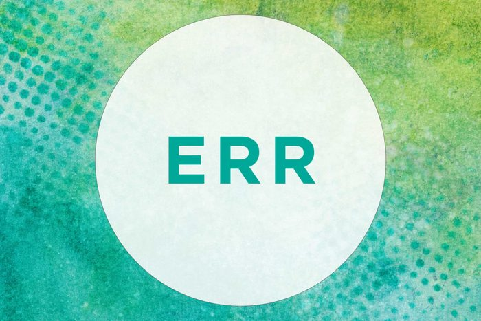 How to pronounce Err