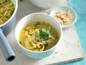 Quick Corn and Chicken Soup