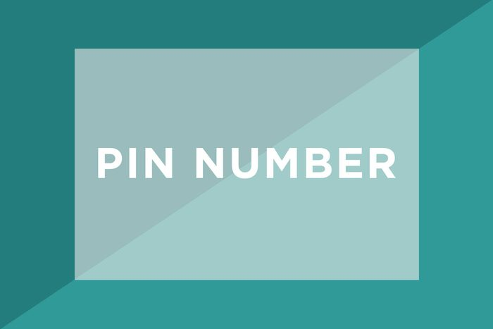 PIN number text