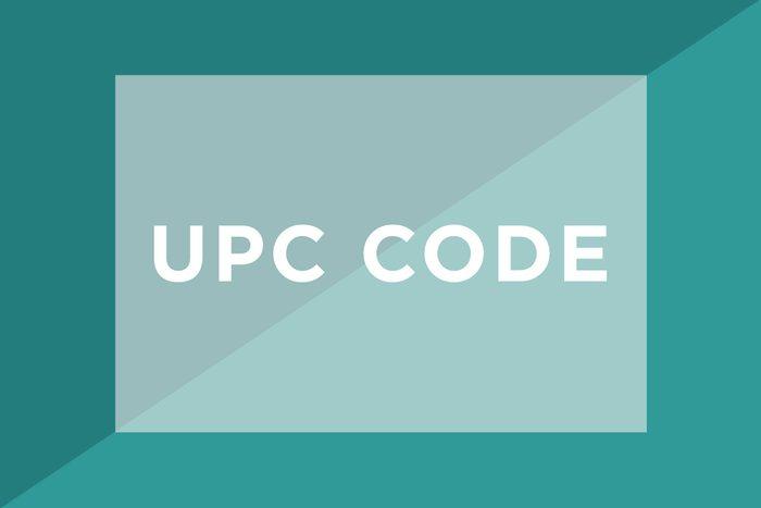 UPC Code text