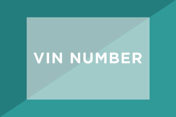 VIN Number text