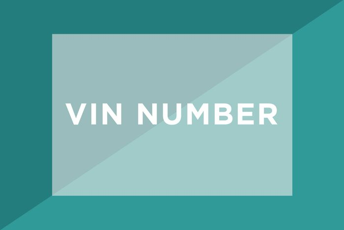 VIN Number text