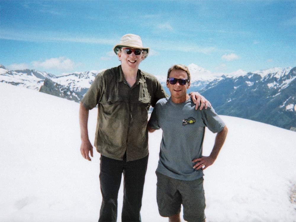 Andrew Wilson and his cousin Ralph at the Tour du Mont Blanc
