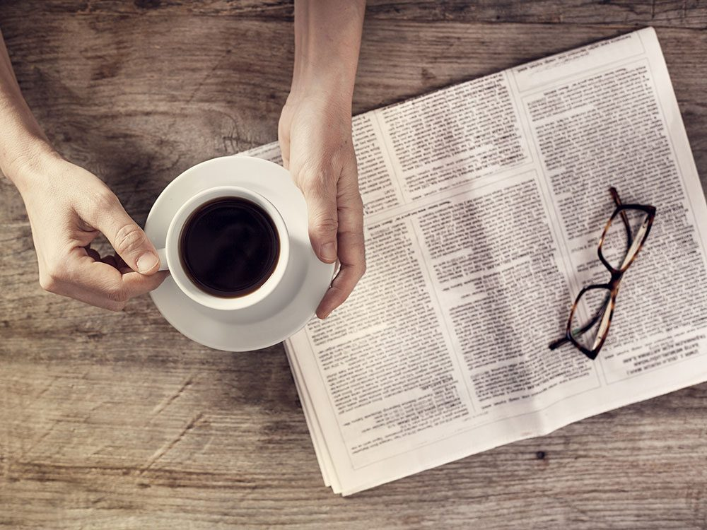 Reading the news is a brainy habit