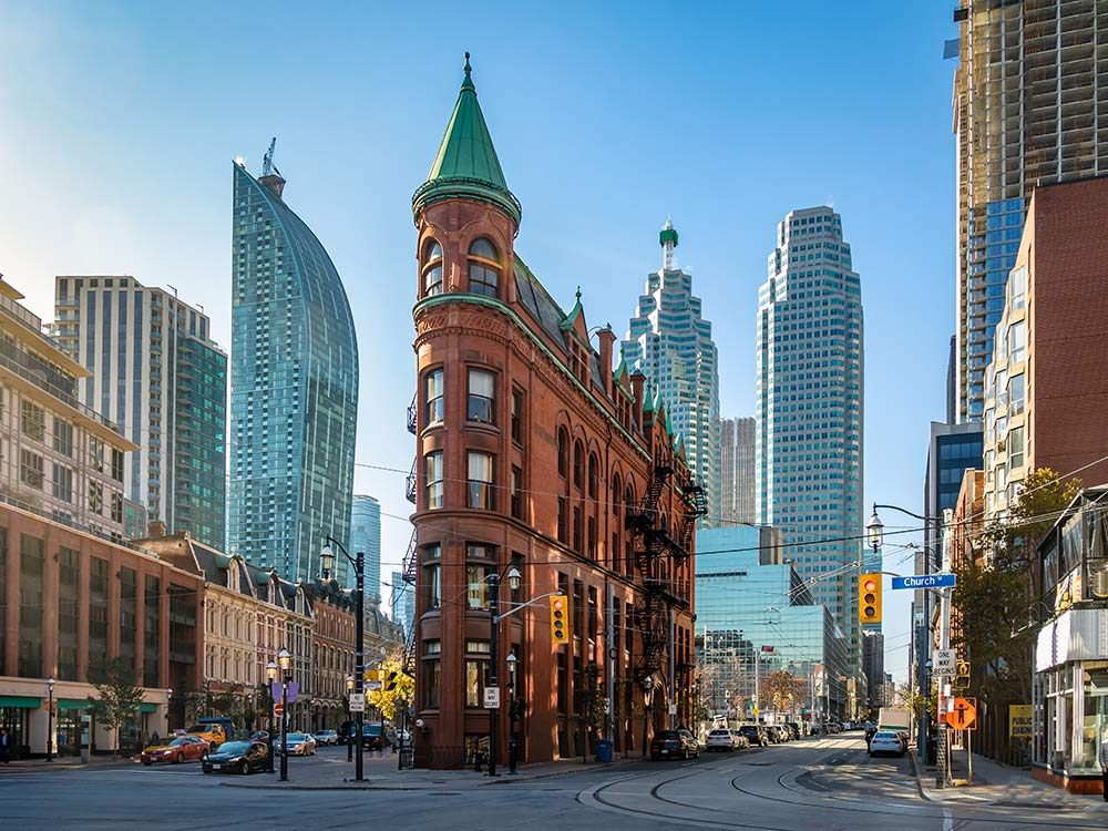 Street in downtown Toronto, Canada