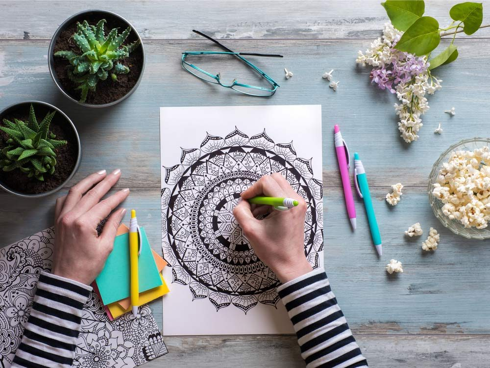 Adult colouring book design