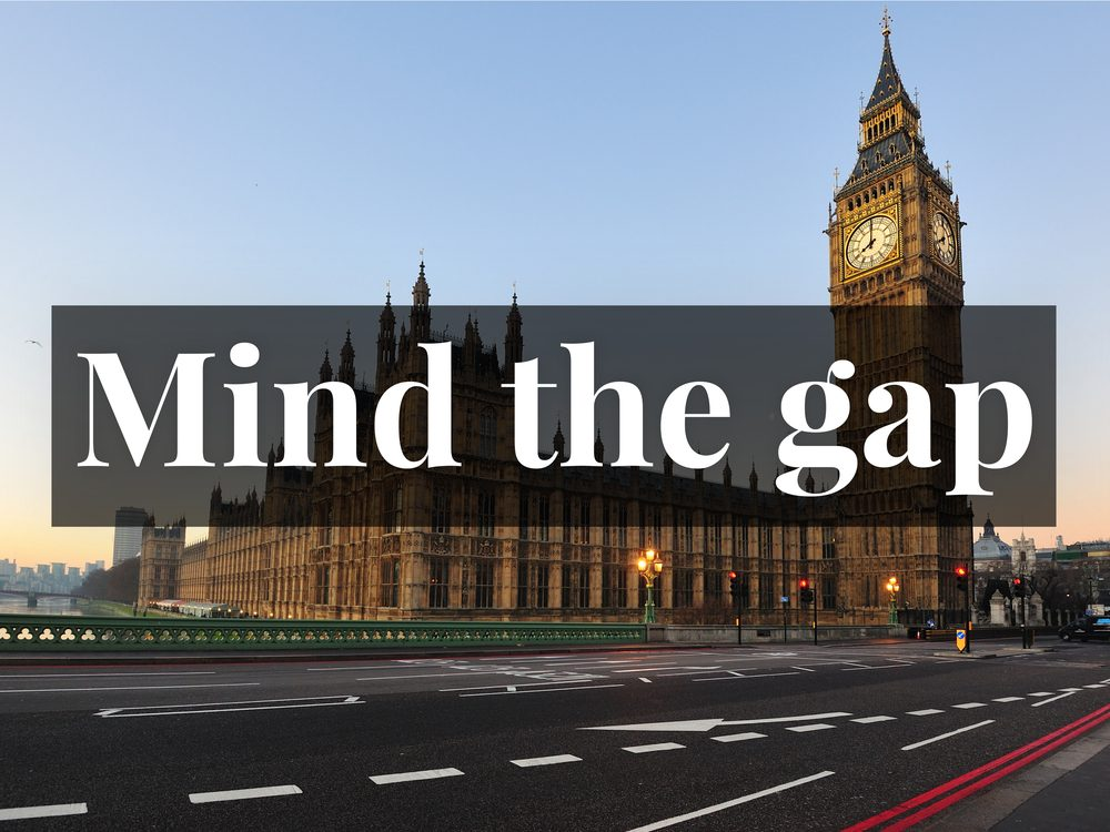 Mind the gap of the Tube