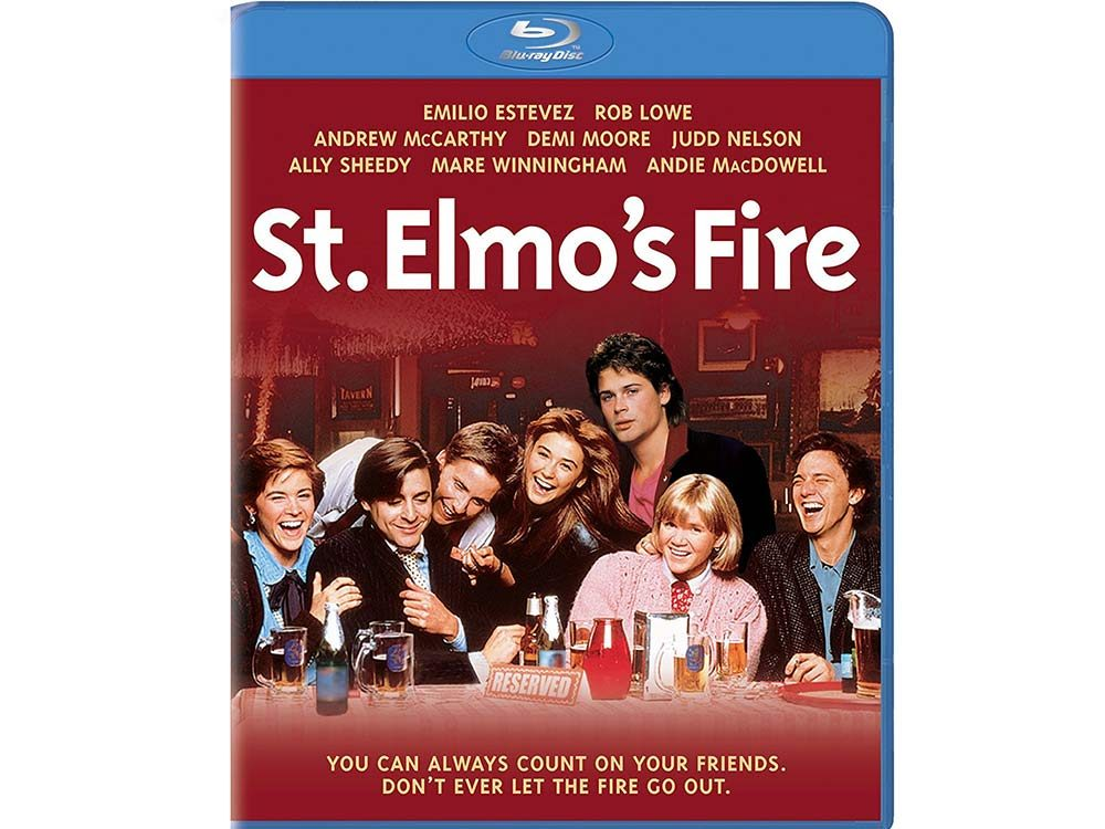 St. Elmo's Fire blu ray cover
