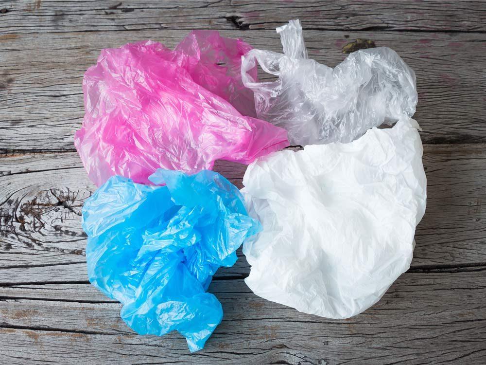 Multicoloured plastic bags