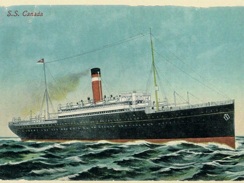Postcard Uncle Les sent to his aunt Elizabeth