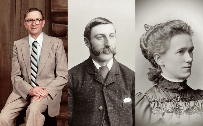 Janey's dad Percy and her grandparents